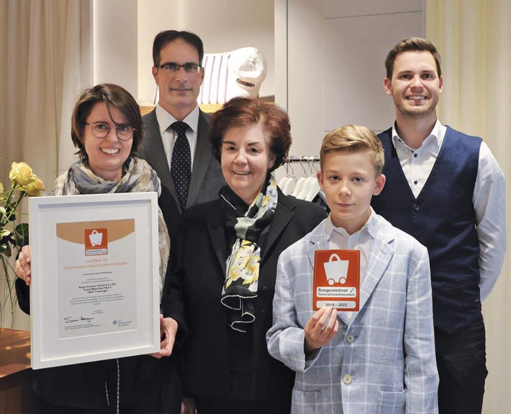 Bilger Exclusiv - Team - Auszeichnung
