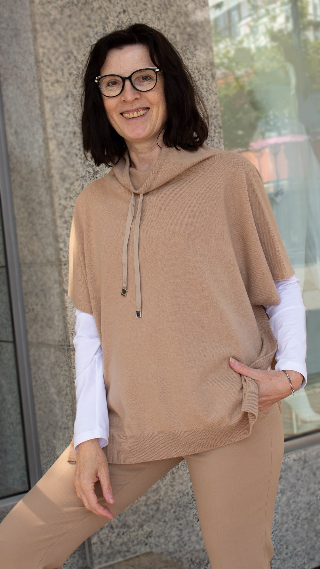 Peserico Pullover in Camel mit Pullover